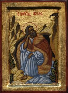 Elijah, fed by ravens (1 Kings 17:6)