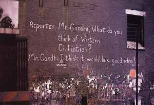 Graffiti on a NYC wall (scanned from a post card)