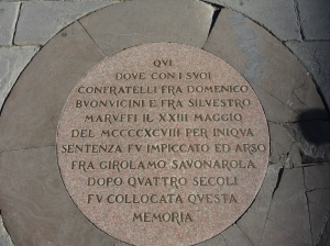 Plaque at the site of execution