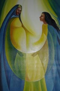 Painting in the church of El Sitio, Suchitoto, El Salvador