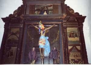 Crucified Christ in Santiago Atitlán Church