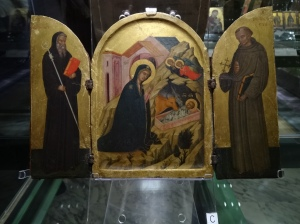 Nativity Triptych with Benedict and Francis