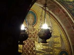 Mosaic of St. Cecilia in the crypt