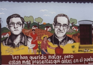 Mural of Rafael Palacios and Monseñor Romero