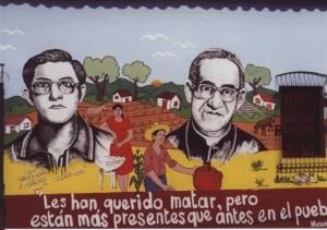 Mural of Rafael Palacios and Monseñor Romero