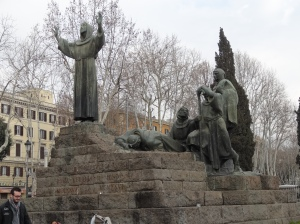 St. Francis and companions facing the Lateran