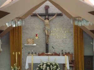 The altar where Romero was martyred