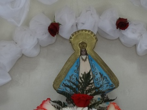 Image of the Virgin of Suyapa in the Plan Grande church