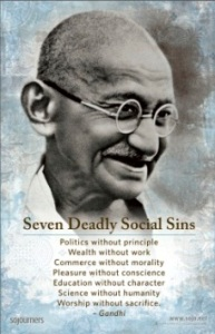 gandhi seven deadly social sins